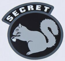SECRET SQUIRREL COMBAT TACTICAL MORALE MILITARY CAR VEHICLE WINDOW DECAL STICKER