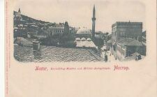 B79143 mostar kradzibeg moschee und militar amtage  bosnia scan front/back image