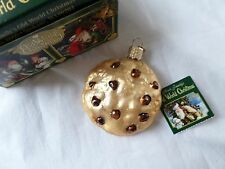 Old World Glass Chocolate Chip Cookie Ornament  w/ Tag & Box  2009
