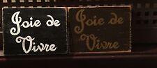 THE JOY OF LIFE Joie De Vivre Wood Sign Plaque U-Pik Color French France Decor