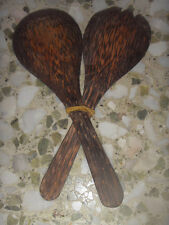 Brand New Indonesia BALI Teak Wood Rice Scoop Ladle Paddle Spatula Fork