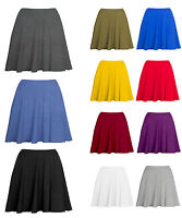 Above Knee Length Skater Skirt / Plain Flared Skirt
