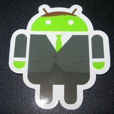 "ANDROID DROID Businessman bot robot logo Sticker 2.5"" Google andrew bell"