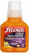 4 Pack - Tylenol Cold Multi-Symptom Severe Daytime Liquid Citrus Burst 8oz Each