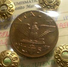 ITALY 5 CENTESIMI 1942 FIOR DI CONIO (PERIZIATO)