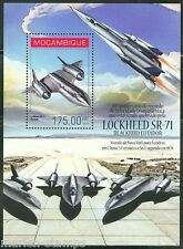 MOZAMBIQUE 2014 40th ANN OF TRANSATLANTIC SPEED RECORD LOCKHEED SR-71 S/S  MINT