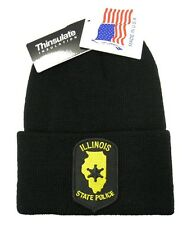 Illinois State Police Patch Knit Cap - 40g Thinsulate Insulation - Black