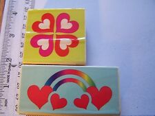 WM RUBBER STAMPS LOVE  WEDDING ANNIVERSARY HEART MEDALLION RAINBOW HEARTS ACCENT