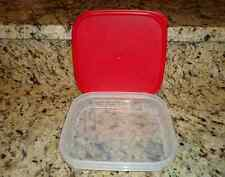 Tupperware Clear Storage Modular Mates 2.5c Square Chili Red Seal Brand New