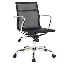New Modern Ergonomic Mesh Mid Back Executive Computer Desk Task Office Chair