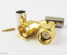 1pc SMA Male Plug Straight Crimp for RG58 RG142 RG223 RG400 LMR195 RF Connector