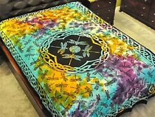 """Dragonfly Tie Dye Tapestry 72 x 108"""" Wiccan Pagan Altar Supply #TP64TD"""