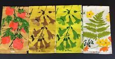 Vintage Mid Century Vera Neumann  4 Towels Linen Best Cool Colors NOS Never Used