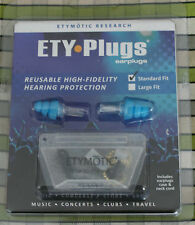 ETY earplugs Blue Tip with pouch protection for Music Concerts Clubs Travel