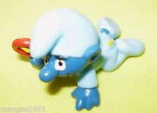 COLLECTABLE VERY RARE VINTAGE SMURF CRAWLING BABY BOY RATTLE BLUE ROMPER SUIT