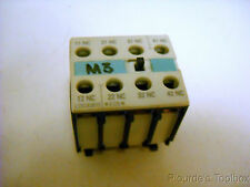 Used Siemens General Use Auxiliary Contact Block, 3RH1921-1FA04