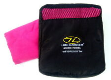 PINK MICRO FIBRE LUXURY HAND TOWEL Ladies travel sports gym camping backpacking