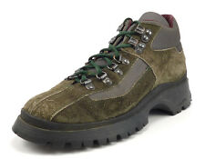 Prada Men's Shoes 5.5 US Suede Lug Sole Lace Up Hiking Boots Green
