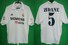 2001-2002 Real Madrid Centenary Jersey Shirt Camiseta Home Zidane #5 Adidas L
