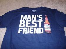 Budweiser Mens Beer Drink Mans Best Friend Blue T-Shirt Size Small S