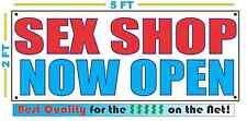 SEX SHOP NOW OPEN Banner Sign NEW Larger Size Best Quality for the $$$