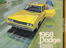 Dodge Taxi 1968 USA Market Sales Brochure Coronet Polara Sportsman