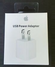 NEW Genuine Original Apple Wall AC Charger Adapter USB Cube 5W New w/ Retail Box