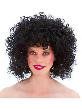 70's Hippy 80's Black Boogie Babe Disco Curly Wig Fancy Dress Afro Perm Retro