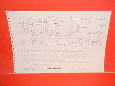 1963 FORD 300 GALAXIE 500 500XL SUNLINER CONVERTIBLE COUPE FRAME DIMENSION CHART