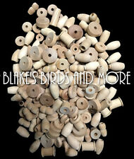 200 NATURAL WOOD BIRD TOY PARTS ASSORTED WOOD PARTS FILLERS: