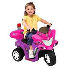Power Wheels For Girls Police Motorcycle Bike Battery Powered Ride On Toy 6V