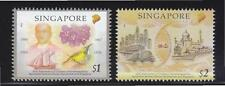 SINGAPORE 2012 45TH ANNIV. OF CURRENCY INTERCHANGEABILITY AGREEMENT 2 STAMPS MNH
