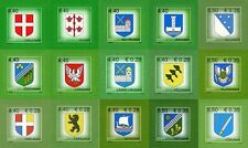 STAMP SET OF ESTONIA -  Coats of Arms of Estonian counties  ( 15 stamps )