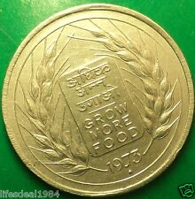 INDIA 1973 50 paise or fifty paisa FAO GROW MORE FOOD Rare Commemorative coin