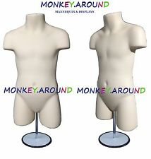 CHILD MANNEQUIN,Clothing Display Body Dress Hanger Boy,Girl Form & Stand - FLESH