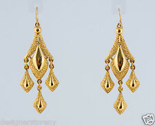Ben-Amun Gold Plated Earrings w/four drops  #47102