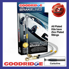 Fiat 500 Abarth 08 On Goodridge Zinc Plated Carbo Brake Hoses SFT0658-6P-CB