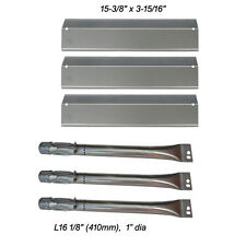 Replacement Grill Burners & SS Heat Plates for Uniflame GBC831,GBC940,GBC981