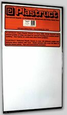 .010 WHITE STYRENE SHEET PLASTIC - Plastruct 8-Sheet Pack #91101
