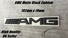 Mercedes AMG Matte Black Rear Badge Trunk Emblem C63 E63 A45 AMG -UK Seller-