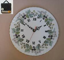 Royal worcester lavinia horloge plat mural suspendu blanc 26.6cm
