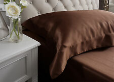 Jasmine Silk 19MM Charmeuse Oxford Square Silk Pillow Case Chocolate