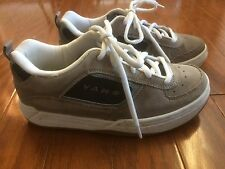 Vans Docket GREY CHARCOAL WHITE Men Skate Sneaker Shoes Youth Sz5.5- Mens' Sz 6