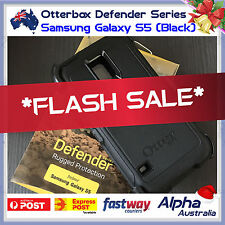 Genuine Otterbox Defender Samsung Galaxy S5 Case Cover + Belt Clip [Black] AUS