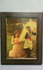 George Clausen Lithograph Post Impressionist Art 1930s Painting Oak Frame P02