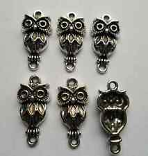 15pcs Tibetan silver owl charms connector 26x13mm