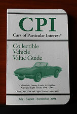 CPI Cars of Particular Interest - Collectible Vehicle Value Guide 2001 PB
