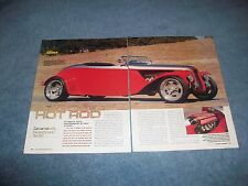 """1934 Ford Roadster Custom Sports Car Article """"Hooked Up Hot Rod"""" Viper V-10"""