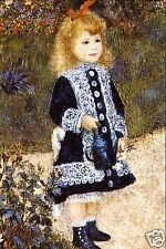 Girl with the Watering Can by Pierre-Auguste Renoir Giclee Repro on Canvas