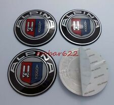3D Metal Wheel Center Hub Caps decals Emblem Sticker logo 65mm Alpina t#301